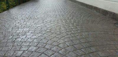 beton amprentat piatra cubica gri