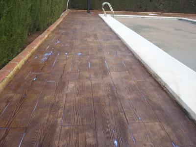 beton amprentat piscina