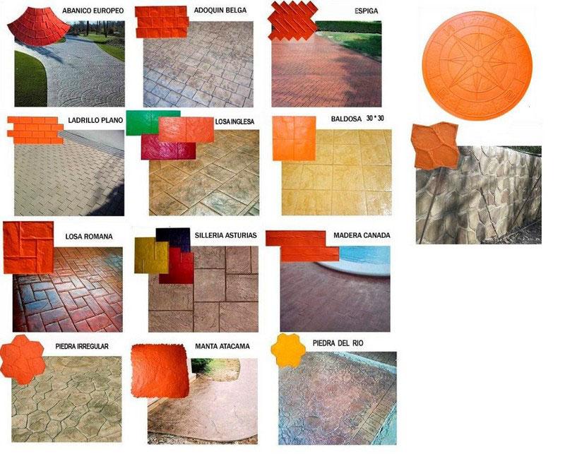 Modele beton amprentat
