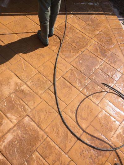 finisare lucrare beton amprentat