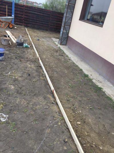 pregatire teren beton amprentat