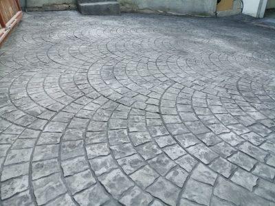 intrare parcare subterana cu beton amprentat final